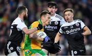19 January 2020; Liam Silke of Corofin in action against Kilcoo players, from left, Conor Laverty, Eugene Branagan, and Jerome Johnston during the AIB GAA Football All-Ireland Senior Club Championship Final between Corofin and Kilcoo at Croke Park in Dublin. Photo by Piaras Ó Mídheach/Sportsfile