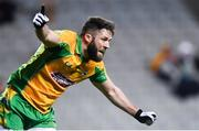 19 January 2020; Conor Cunningham of Corofin celebrates after scoring his side's first goal of the game during the AIB GAA Football All-Ireland Senior Club Championship Final between Corofin and Kilcoo at Croke Park in Dublin. Photo by Sam Barnes/Sportsfile