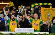 19 January 2020; Corofin joint-captains Micheál Lundy, left, and Jason Leonard lift the Andy Merrigan Cup following the AIB GAA Football All-Ireland Senior Club Championship Final between Corofin and Kilcoo at Croke Park in Dublin. Photo by Seb Daly/Sportsfile