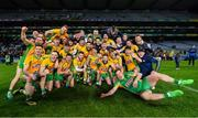 19 January 2020; Corofin players celebrate with the Andy Merrigan Cup following the AIB GAA Football All-Ireland Senior Club Championship Final between Corofin and Kilcoo at Croke Park in Dublin. Photo by Seb Daly/Sportsfile