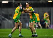 19 January 2020; Kieran Molloy, right, and Dylan Canney of Corofin celebrate at the final whistle following their side's victory of the AIB GAA Football All-Ireland Senior Club Championship Final between Corofin and Kilcoo at Croke Park in Dublin. Photo by Seb Daly/Sportsfile