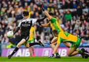 19 January 2020; Eugene Branagan of Kilcoo in action against Cathal Silke, centre, and Liam Silke of Corofin during the AIB GAA Football All-Ireland Senior Club Championship Final between Corofin and Kilcoo at Croke Park in Dublin. Photo by Seb Daly/Sportsfile