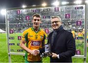 19 January 2020; Ronan Steede of Corofin is presented the Man of the Match award by Mark Doyle, Chief Marketing Officer,  following the AIB GAA Football All-Ireland Senior Club Championship Final between Corofin and Kilcoo at Croke Park in Dublin. Photo by Sam Barnes/Sportsfile
