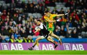 19 January 2020; Conor Laverty of Kilcoo in action against Ian Burke of Corofin during the AIB GAA Football All-Ireland Senior Club Championship Final between Corofin and Kilcoo at Croke Park in Dublin. Photo by Sam Barnes/Sportsfile