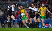 19 January 2020; Dylan Wall of Corofin in action against Eugene Branagan, left, and Aidan Branagan of Kilcoo during the AIB GAA Football All-Ireland Senior Club Championship Final between Corofin and Kilcoo at Croke Park in Dublin. Photo by Piaras Ó Mídheach/Sportsfile