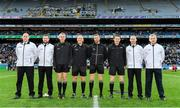 19 January 2020; Referee Conor Lane, fourth left, with his officials prior to the AIB GAA Football All-Ireland Senior Club Championship Final between Corofin and Kilcoo at Croke Park in Dublin. Photo by Seb Daly/Sportsfile