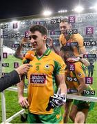 19 January 2020; Corofin players celebrate as Ronan Steede of Corofin is interviewed following the AIB GAA Football All-Ireland Senior Club Championship Final between Corofin and Kilcoo at Croke Park in Dublin. Photo by Sam Barnes/Sportsfile