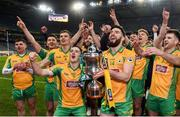 19 January 2020; Corofin players celebrate with the Andy Merrigan Cup the AIB GAA Football All-Ireland Senior Club Championship Final between Corofin and Kilcoo at Croke Park in Dublin. Photo by Sam Barnes/Sportsfile