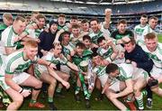19 January 2020; Ballyhale Shamrocks players celebrate with the Tommy Moore Cup during the AIB GAA Hurling All-Ireland Senior Club Championship Final between Ballyhale Shamrocks and Borris-Ileigh at Croke Park in Dublin. Photo by Sam Barnes/Sportsfile