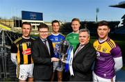20 January 2020; In attendance at the launch of the 2020 Allianz Hurling Leagues are, from left, Cillian Buckley of Kilkenny, Ard Stiúrthóir of the GAA Tom Ryan, Seamus Callanan of Tipperary, William O'Donoghue of Limerick, Sean McGrath, CEO, Allianz Ireland, and Conor McDonald of Wexford at Croke Park in Dublin. 2020 marks the 28th year of Allianz' partnership with the GAA as sponsors of the Allianz Leagues. Photo by Brendan Moran/Sportsfile