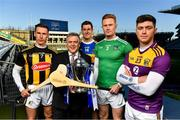 20 January 2020; In attendance at the launch of the 2020 Allianz Hurling Leagues are, from left, Cillian Buckley of Kilkenny, Sean McGrath, CEO, Allianz Ireland, Seamus Callanan of Tipperary, William O'Donoghue of Limerick and Conor McDonald of Wexford at Croke Park in Dublin. 2020 marks the 28th year of Allianz' partnership with the GAA as sponsors of the Allianz Leagues. Photo by Brendan Moran/Sportsfile