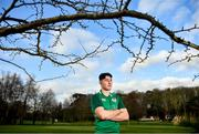 20 January 2020; David McCann poses for a portrait following an Ireland Rugby Under-20 Six Nations Squad Announcement at Fota Island Resort in Cork. Photo by David Fitzgerald/Sportsfile