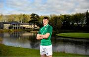 20 January 2020; Thomas Ahern poses for a portrait following an Ireland Rugby Under-20 Six Nations Squad Announcement at Fota Island Resort in Cork. Photo by David Fitzgerald/Sportsfile