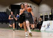 20 January 2020; Orla Dullaghan of Our Lady of Mercy in action against Tania Salvado of Pobailscoil Inbhear Sceine during the Basketball Ireland U16 A Girls Schools Cup Final between Pobailscoil Inbhear Sceine and Our Lady of Mercy, Waterford at the National Basketball Arena in Tallaght, Dublin. Photo by Harry Murphy/Sportsfile