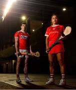 20 January 2020; Camogie player Amy O'Connor, right, and hurler Sean O'Donoghue during the Cork GAA National Leagues Media Briefing at Pairc Ui Chaoimh in Cork. Photo by David Fitzgerald/Sportsfile