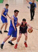 21 January 2020; Cian Talbot Gaynor of Ballymakenny College in action against Colm Kearney of St Flannan's College during the Basketball Ireland U19 C Boys Schools Cup Final match between Ballymakenny College and St Flannan's College, Ennis at the National Basketball Arena in Tallaght, Dublin. Photo by Brendan Moran/Sportsfile