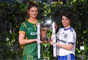 21 January 2020; In attendance at the launch of the 2020 Lidl Ladies National Football Leagues at Lidl Ireland Head Office in Tallaght, Dublin, are Máire O'Shaughnessy of Meath, left, and Cora Courtney of Monaghan. Photo by Seb Daly/Sportsfile