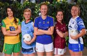 21 January 2020; In attendance at the launch of the 2020 Lidl Ladies National Football Leagues at Lidl Ireland Head Office in Tallaght, Dublin, are, from left, Emer Gallagher of Donegal, Carla Rowe of Dublin, Aishling Moloney of Tipperary, Nicola Ward of Galway and Caoimhe McGrath of Waterford. Photo by Seb Daly/Sportsfile
