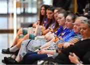 21 January 2020; Studetns from Castkleknock School are pictured during the launch of the 2020 Lidl Ladies National Football Leagues at Lidl Ireland Head Office in Tallaght, Dublin.  Photo by Seb Daly/Sportsfile
