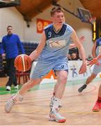 21 January 2020; Ruairi Cronin of Castletroy College during the Basketball Ireland U16 B Boys Schools Cup Final match between Coláiste Cholmcille, Ballyshannon and Castletroy College at the National Basketball Arena in Tallaght, Dublin. Photo by Daniel Tutty/Sportsfile