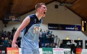 21 January 2020; Ruairi Cronin of Castletroy College celebrates after the Basketball Ireland U16 B Boys Schools Cup Final match between Coláiste Cholmcille, Ballyshannon and Castletroy College at the National Basketball Arena in Tallaght, Dublin. Photo by Brendan Moran/Sportsfile