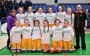 21 January 2020; The St Joseph's team prior to the Basketball Ireland U16 C Girls Schools Cup Final match between St Nathy's College and St Joseph's, Ballybunion at the National Basketball Arena in Tallaght, Dublin. Photo by Brendan Moran/Sportsfile