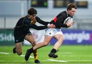 21 January 2020; Luke Hardy of The High School is tackled by James Smartt of Temple Carrig School during the Bank of Ireland Vinnie Murray Cup Semi-Final match between Temple Carrig School and The High School at Energia Park in Dublin. Photo by Sam Barnes/Sportsfile
