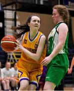 21 January 2020; Nora Fitzsimons of St Joseph's in action against Naomi Cahill of St Nathy's College during the Basketball Ireland U16 C Girls Schools Cup Final match between St Nathy's College and St Joseph's, Ballybunion at the National Basketball Arena in Tallaght, Dublin. Photo by Brendan Moran/Sportsfile