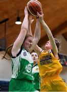 21 January 2020; Naomi Cahill of St Nathy's College in action against Mai Whelan of St Joseph's during the Basketball Ireland U16 C Girls Schools Cup Final match between St Nathy's College and St Joseph's, Ballybunion at the National Basketball Arena in Tallaght, Dublin. Photo by Brendan Moran/Sportsfile