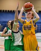 21 January 2020; Eabha Moloney of St Joseph's in action against Leah McCabe of St Nathy's College during the Basketball Ireland U16 C Girls Schools Cup Final match between St Nathy's College and St Joseph's, Ballybunion at the National Basketball Arena in Tallaght, Dublin. Photo by Brendan Moran/Sportsfile