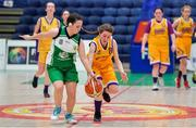 21 January 2020; Mai Whelan of St Joseph's in action against Nicole Noonan of St Nathy's College during the Basketball Ireland U16 C Girls Schools Cup Final match between St Nathy's College and St Joseph's, Ballybunion at the National Basketball Arena in Tallaght, Dublin. Photo by Brendan Moran/Sportsfile
