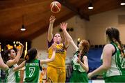 21 January 2020; Millie Byrne of St Joseph's in action against Amy Doory, left, and Sarah Brett of St Nathy's College during the Basketball Ireland U16 C Girls Schools Cup Final match between St Nathy's College and St Joseph's, Ballybunion at the National Basketball Arena in Tallaght, Dublin. Photo by Brendan Moran/Sportsfile
