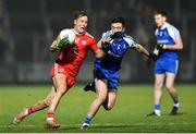 18 January 2020; Kieran McGeary of Tyrone in action against Shane Carey of Monaghan during the Bank of Ireland Dr McKenna Cup Final between Monaghan and Tyrone at Athletic Grounds in Armagh. Photo by Oliver McVeigh/Sportsfile