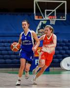 22 January 2020; Sarah Hickey of Our Lady of Mercy, Waterford in action against Ciara Byrne of Scoil Chríost Rí, Portlaoise during the Basketball Ireland U19 A Girls Schools Cup Final match between Our Lady of Mercy, Waterford and Scoil Chríost Rí, Portlaoise at the National Basketball Arena in Tallaght, Dublin. Photo by David Fitzgerald/Sportsfile