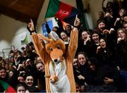 22 January 2020; Scoil Chríost Rí, Portlaoise supporters during the Basketball Ireland U19 A Girls Schools Cup Final match between Our Lady of Mercy, Waterford and Scoil Chríost Rí, Portlaoise at the National Basketball Arena in Tallaght, Dublin. Photo by David Fitzgerald/Sportsfile