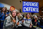 22 January 2020; Our Lady of Mercy, Waterford, supporters during the Basketball Ireland U19 A Girls Schools Cup Final match between Our Lady of Mercy, Waterford and Scoil Chríost Rí, Portlaoise at the National Basketball Arena in Tallaght, Dublin. Photo by David Fitzgerald/Sportsfile