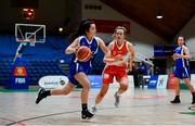 22 January 2020; Ardiana Schallaci of Our Lady of Mercy, Waterford in action against Grainne O'Reilly of Scoil Chríost Rí, Portlaoise the Basketball Ireland U19 A Girls Schools Cup Final match between Our Lady of Mercy, Waterford and Scoil Chríost Rí, Portlaoise at the National Basketball Arena in Tallaght, Dublin. Photo by David Fitzgerald/Sportsfile