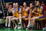 22 January 2020; St Patrick's Academy Dungannon react during the Basketball Ireland U19 B Girls Schools Cup Final match between St Patrick's Academy Dungannon and St Colmcille's CS, Knocklyon at the National Basketball Arena in Tallaght, Dublin. Photo by David Fitzgerald/Sportsfile