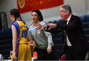 22 January 2020; St Patrick's Academy Dungannon assistant coach Fintan Colgan during the Basketball Ireland U19 B Girls Schools Cup Final match between St Patrick's Academy Dungannon and St Colmcille's CS, Knocklyon at the National Basketball Arena in Tallaght, Dublin. Photo by David Fitzgerald/Sportsfile