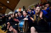 22 January 2020; St Colmcille's C.S, Knocklyon supporters react during the Basketball Ireland U19 B Girls Schools Cup Final match between St Patrick's Academy Dungannon and St Colmcille's CS, Knocklyon at the National Basketball Arena in Tallaght, Dublin. Photo by David Fitzgerald/Sportsfile