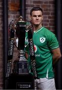 22 January 2020; Ireland captain Jonathan Sexton during the Guinness Six Nations Rugby Championship Launch 2020 at Tobacco Dock in London, England. Photo by Ramsey Cardy/Sportsfile