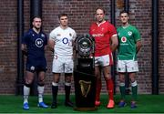 22 January 2020; Captains, from left, Stuart Hogg of Scotland, Owen Farrell of England, Alun Wyn Jones of Wales, and Jonathan Sexton of Ireland during the Guinness Six Nations Rugby Championship Launch 2020 at Tobacco Dock in London, England. Photo by Ramsey Cardy/Sportsfile