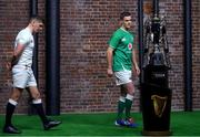 22 January 2020; Captains Owen Farrell of England, left, and Jonathan Sexton of Ireland during the Guinness Six Nations Rugby Championship Launch 2020 at Tobacco Dock in London, England. Photo by Ramsey Cardy/Sportsfile