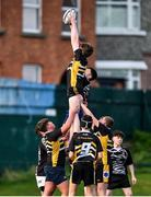22 January 2020; Oisin Heffernan of St. Patrick's Classical School wins possession in a line-out during the Bank of Ireland Father Godfrey Cup Quarter-Final match between Ardscoil na Trionoide and St. Patrick's Classical School at Energia Park in Donnybrook, Dublin. Photo by Ben McShane/Sportsfile