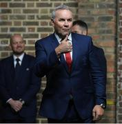 22 January 2020; Wales head coach Wayne Pivac during the Guinness Six Nations Rugby Championship Launch 2020 at Tobacco Dock in London, England. Photo by Ramsey Cardy/Sportsfile