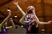 22 January 2020; Killian Gribben of St Eunan's College, Letterkenny in action against Colm O'Reilly, right, and Mikolaj Sienicki of Waterpark College, Waterford during the Basketball Ireland U19 B Boys Schools Cup Final match between St Eunan's College, Letterkenny and Waterpark College at the National Basketball Arena in Tallaght, Dublin. Photo by David Fitzgerald/Sportsfile