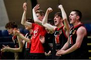 22 January 2020; St Eunan's College, Letterkenny substitutes celebrate a score during the Basketball Ireland U19 B Boys Schools Cup Final match between St Eunan's College, Letterkenny and Waterpark College at the National Basketball Arena in Tallaght, Dublin. Photo by David Fitzgerald/Sportsfile