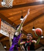 22 January 2020; Raumel Soler of St Eunan's College, Letterkenny in action against James Delahunty of Waterpark College, Waterford during the Basketball Ireland U19 B Boys Schools Cup Final match between St Eunan's College, Letterkenny and Waterpark College at the National Basketball Arena in Tallaght, Dublin. Photo by David Fitzgerald/Sportsfile