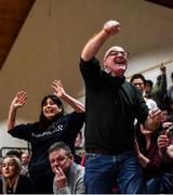22 January 2020; St Eunan's College, Letterkenny supporters react during the Basketball Ireland U19 B Boys Schools Cup Final match between St Eunan's College, Letterkenny and Waterpark College at the National Basketball Arena in Tallaght, Dublin. Photo by David Fitzgerald/Sportsfile