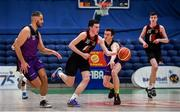 22 January 2020; Thomas Reynolds of St Eunan's College, Letterkenny in action against Mikolaj Sienicki, left, and Colm O'Reilly of Waterpark College, Waterford during the Basketball Ireland U19 B Boys Schools Cup Final match between St Eunan's College, Letterkenny and Waterpark College at the National Basketball Arena in Tallaght, Dublin. Photo by David Fitzgerald/Sportsfile